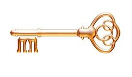 Retro old key isolated on white background vector illustration