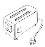 Retro old school toaster Royalty Free Stock Photography