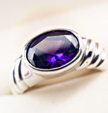 Retro Old Silver Ring Stock Images
