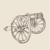 Retro old style cannon. Royalty Free Stock Photo