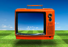 Retro, the old television. Retro, the old colorful television Stock Images