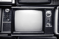 Retro old television. In vintage black and white color style. retro technology Royalty Free Stock Photography