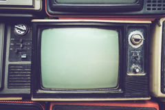 Retro old television royalty free stock photo