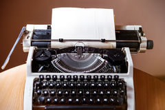 Retro old typewriter with paper sheet Stock Photography