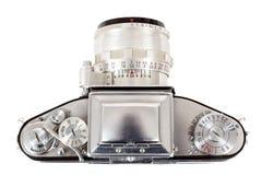 Retro old vintage analog photo camera on white Royalty Free Stock Image