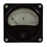 Retro old voltmeter Royalty Free Stock Images