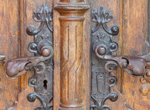 Retro old wooden door castle Royalty Free Stock Photography