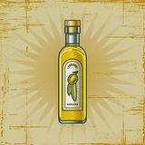 Retro Olive Oil Bottle Royalty Free Stock Photos