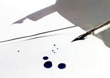 Retro ombra della penna dell'inchiostro Immagine Stock