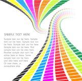 Retro onde del Rainbow Fotografia Stock Libera da Diritti