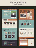 Retro one page website design template Stock Photo