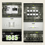Retro one page website design template Royalty Free Stock Photography