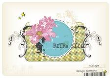Retro ontwerp-elementen Stock Afbeeldingen