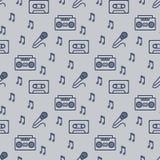 Retro ontwerp van het musicus naadloze patroon vector illustratie