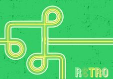 Retro ontwerpachtergrond Stock Foto