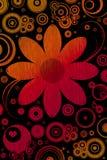 Retro ontwerpen en bloem Stock Afbeelding