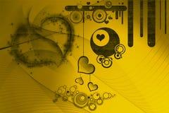 Retro ontwerpen en harten Stock Afbeelding