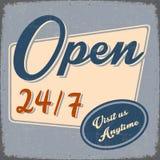 Retro Open Banner in Grunge-ontwerp Royalty-vrije Stock Afbeelding