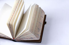 Retro open blank notebook Royalty Free Stock Images
