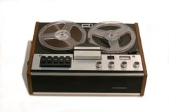 Retro Open reel tape recorder Stock Photos