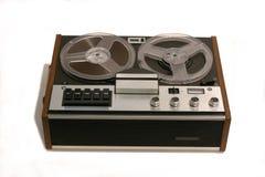 Retro Open reel tape recorder. Open reel audio tape recorder of 1970s vintage Stock Photos