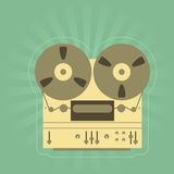 Retro open-reel tape recorder Stock Images