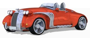 Retro Open tweepersoonsauto vector illustratie