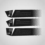 Retro option banners. Black retro option banners with halftone effect Royalty Free Stock Images