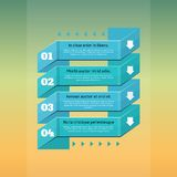 Retro options business step origami style banner. infographics. Royalty Free Stock Images