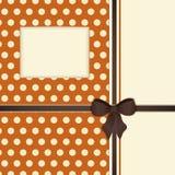 Retro Orange And Brown Ribbon Background Royalty Free Stock Photos