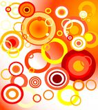 Retro orange background. Illustration: retro orange background (circles Royalty Free Stock Image