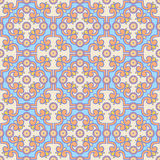 Retro orange and blue pattern Royalty Free Stock Images