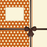 Retro orange and brown ribbon background Royalty Free Stock Photos