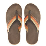 Retro Orange and Brown Sandals Royalty Free Stock Images