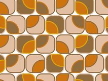 Retro orange chocolate squares Royalty Free Stock Photography
