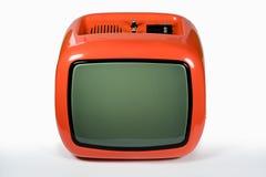 Retro- Orange Fernsehapparat stockbild