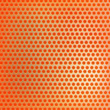 Retro orange hexagon dots background Royalty Free Stock Photos