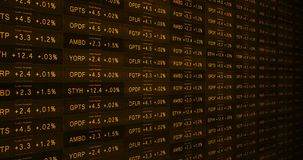 Retro orange increasing stock market ticker in a good economy alt royalty free illustration
