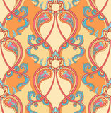 Retro orange pattern Royalty Free Stock Images