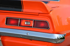 Retro Orange Sports Car Royalty Free Stock Image