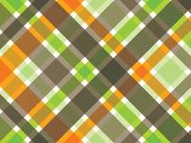 Retro oranje groene bruine plaid Stock Foto's