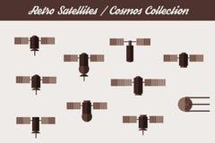 Retro Orbit Satellites. Royalty Free Stock Photos