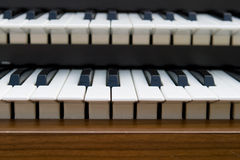 Retro Organ keyboard Stock Photography