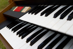 Retro Organ keys Royalty Free Stock Photography