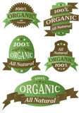 Retro Organic Themed Label Set Stock Photography