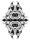 Retro orient flower pattern. Drawing of black flower pattern in a white background Royalty Free Stock Image