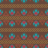 Retro oriental seamless pattern vector background Royalty Free Stock Images