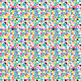 Retro origami colorful seamless pattern vector illustration