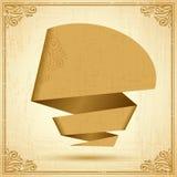 Retro origami speech bubble vector background. Eps Stock Photo