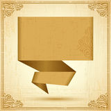 Retro origami speech bubble vector background. Eps Stock Photography